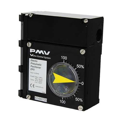 Posicionadores analógicos PMV P5/EP5, modelos neumáticos (P5) o electroneumáticos (EP5).