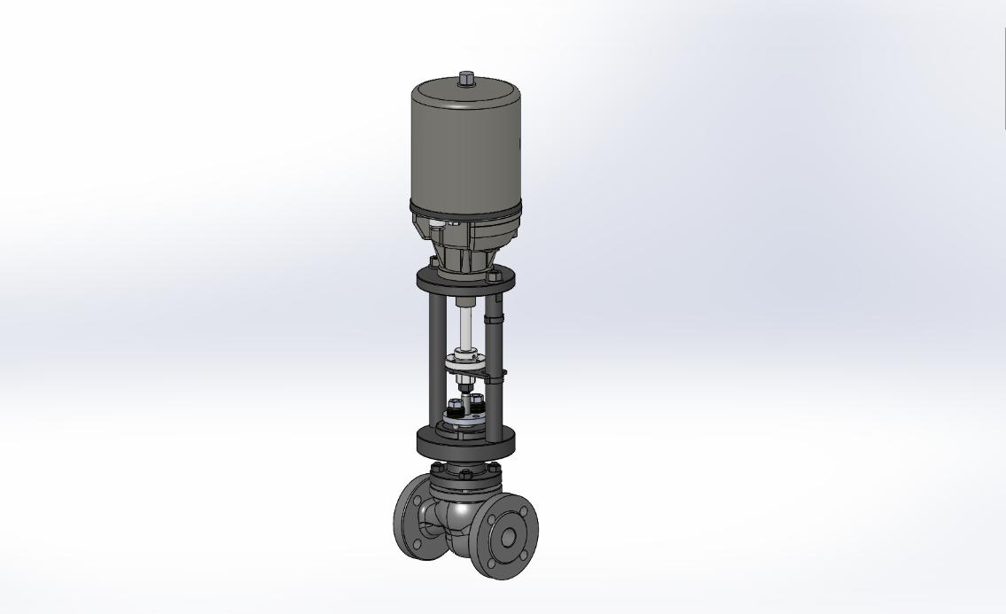 Válvula globo con actuador eléctrico lineal - Flowtop