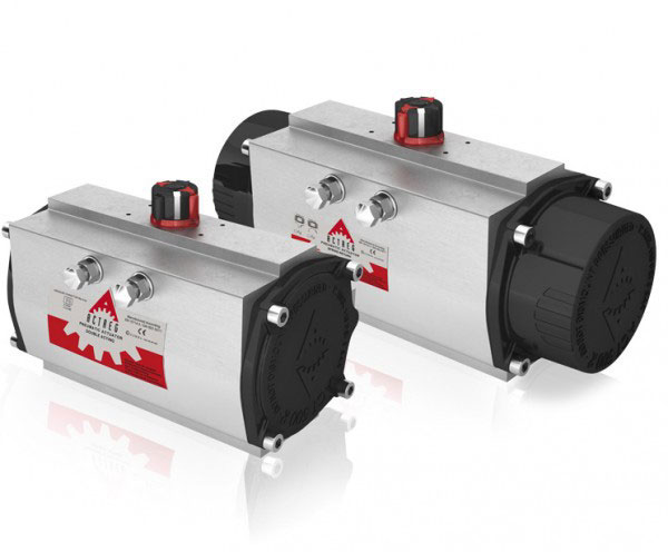 Actuador Neumático Tipo Piñón y Cremallera para accionamiento simple o doble efecto